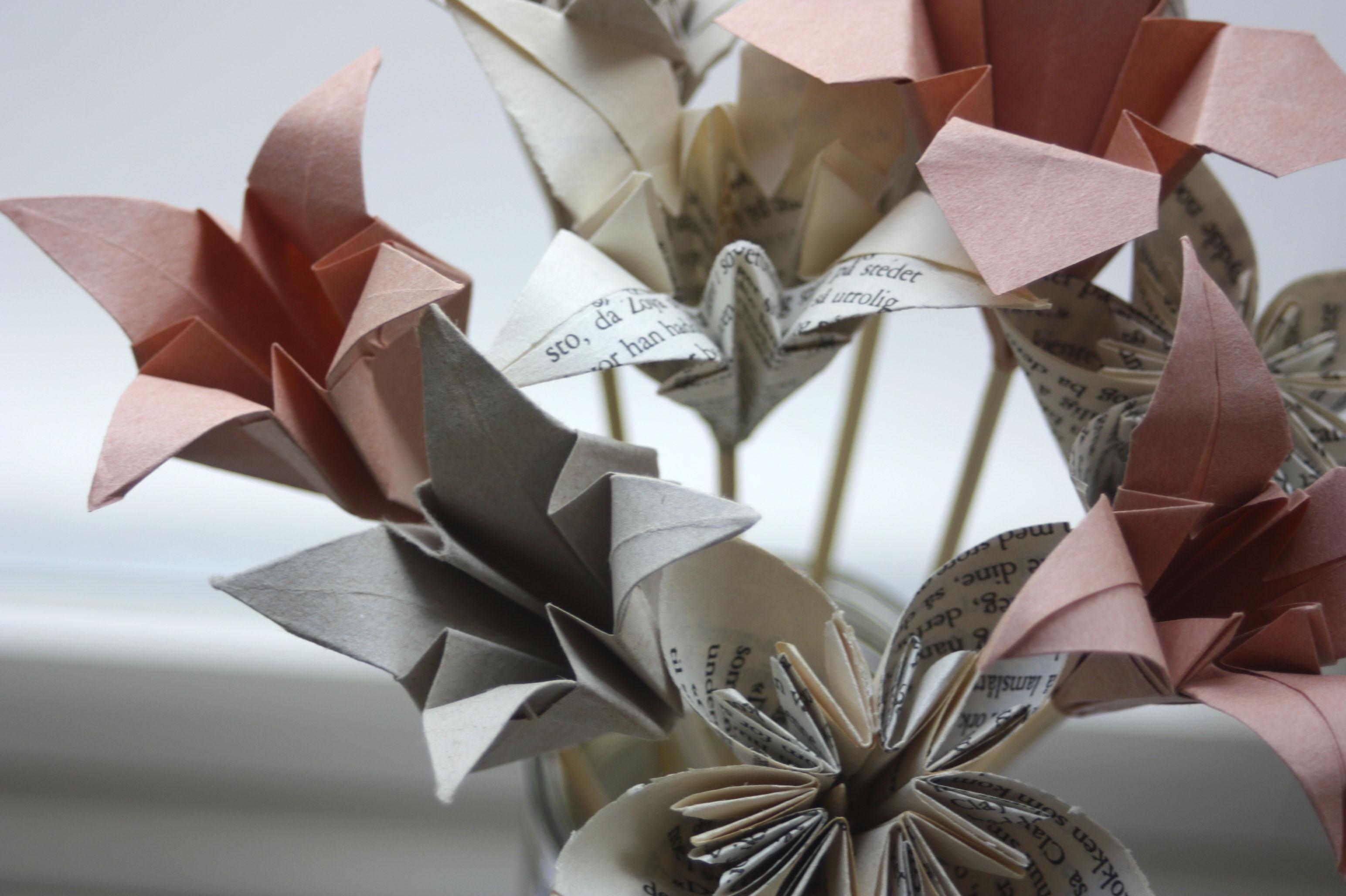 hvordan lage serviett blomst