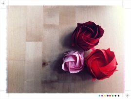 Og når jeg først var i gang med blomsterbretting bestemte jeg meg for å mestre den smått legendariske Kawasaki-rosa.