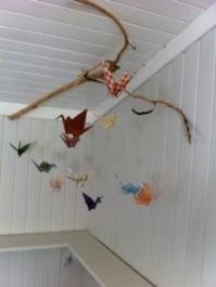 Hytta til foreldrene mine (og i ettertid også hytta svigers) fikk besøk av en fugleflokk, som like gjerne overvintret.