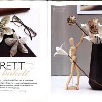 Vi (jeg og Petter) fikk arbeidet vårt på trykk i et ekte magasin! Nærmere bestemt Maison Høst og Ideer.