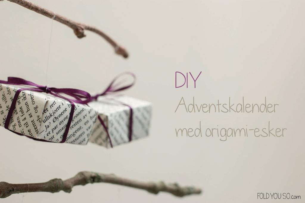 Adventskalender Origami-style