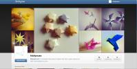 Jeg åpnet instagramkonto for bloggen i november, under navnet foldyouso, naturligvis. ;)