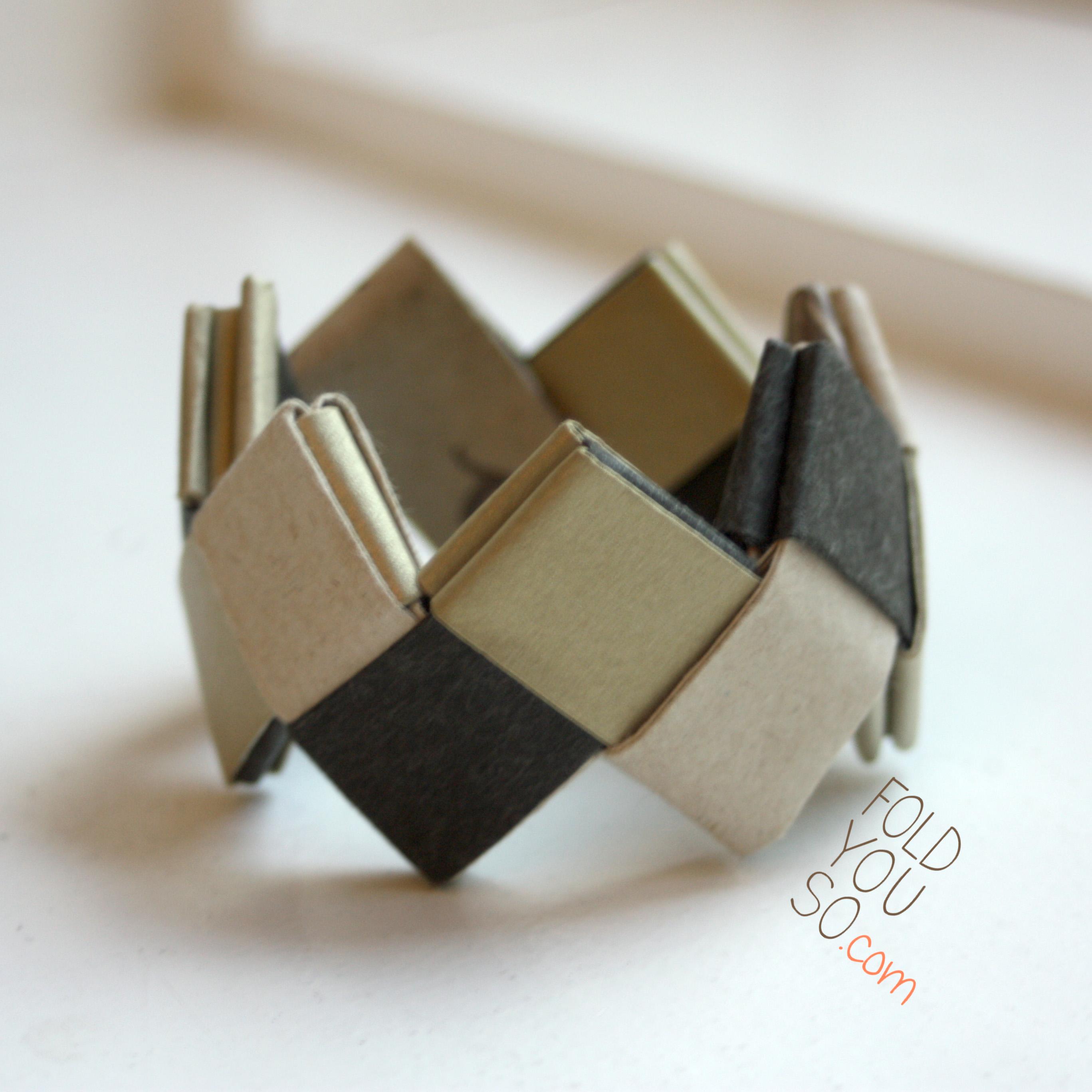 origami bracelet fold you so