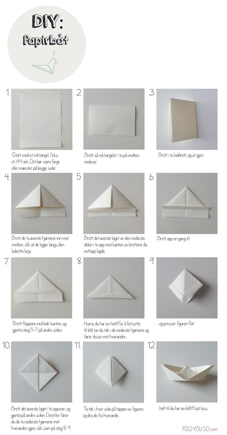DIY-Papirbaat fra foldyouso.com