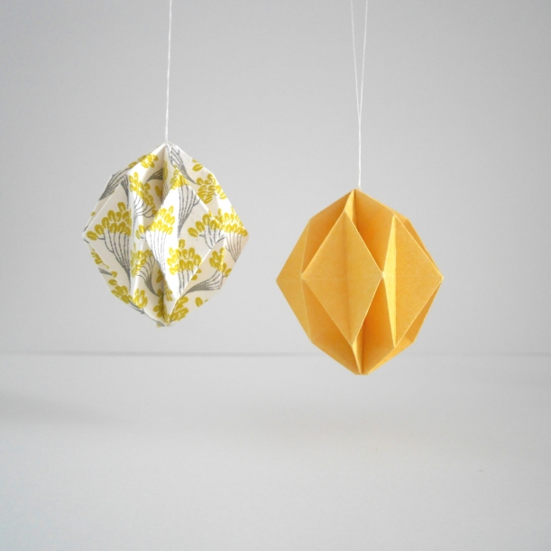 Origami Easter eggs