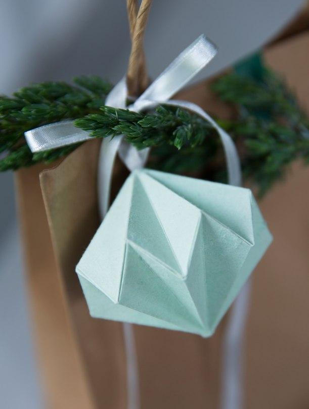 origami diamond gift wrap