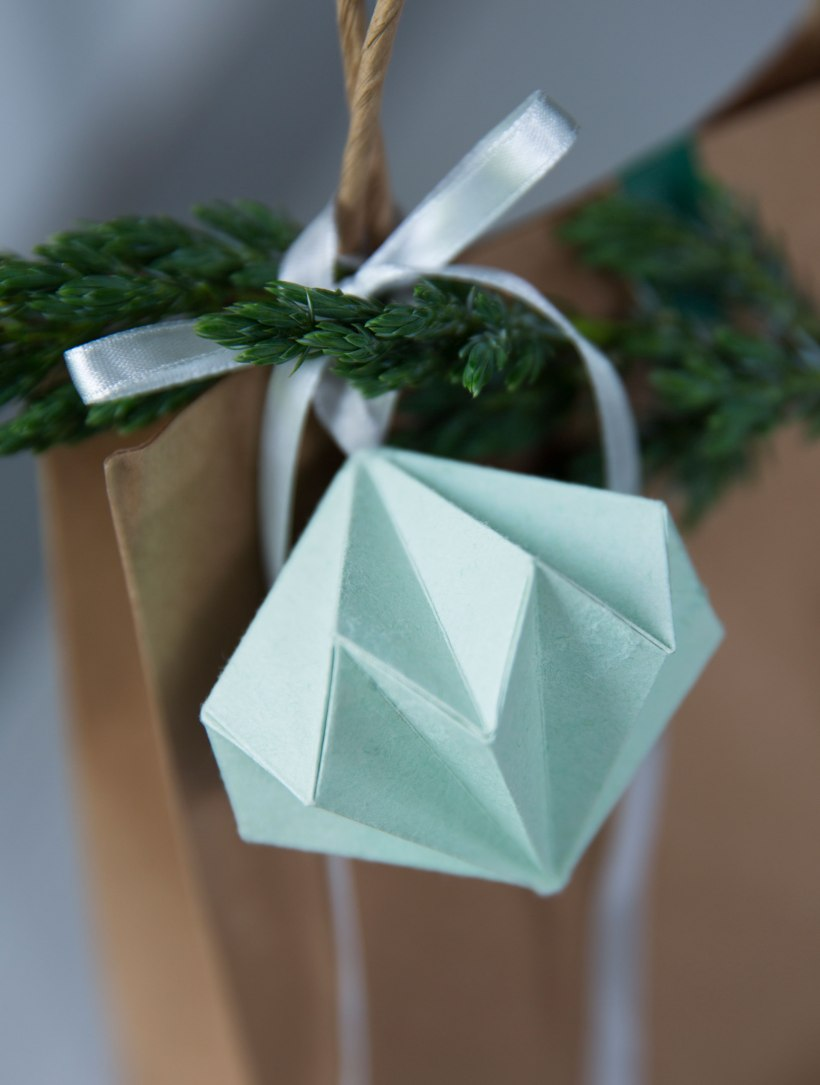 origami diamond gift wrap