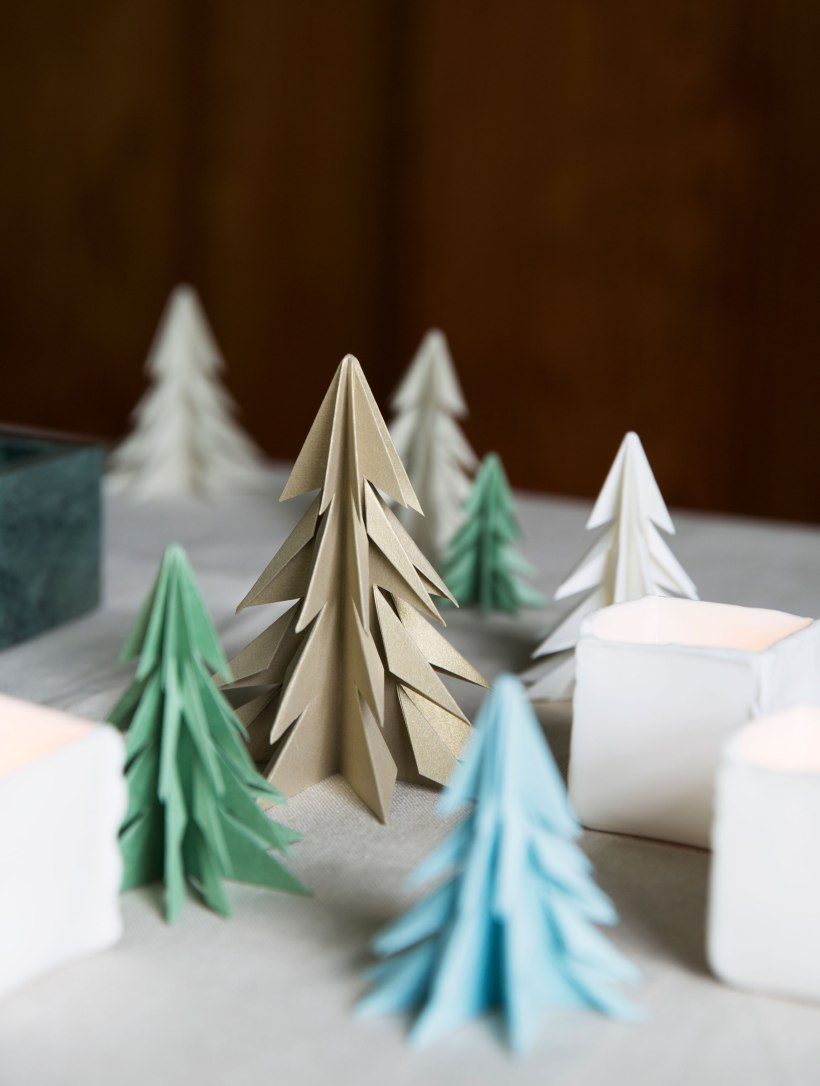 These trees are cute and easy to fold!