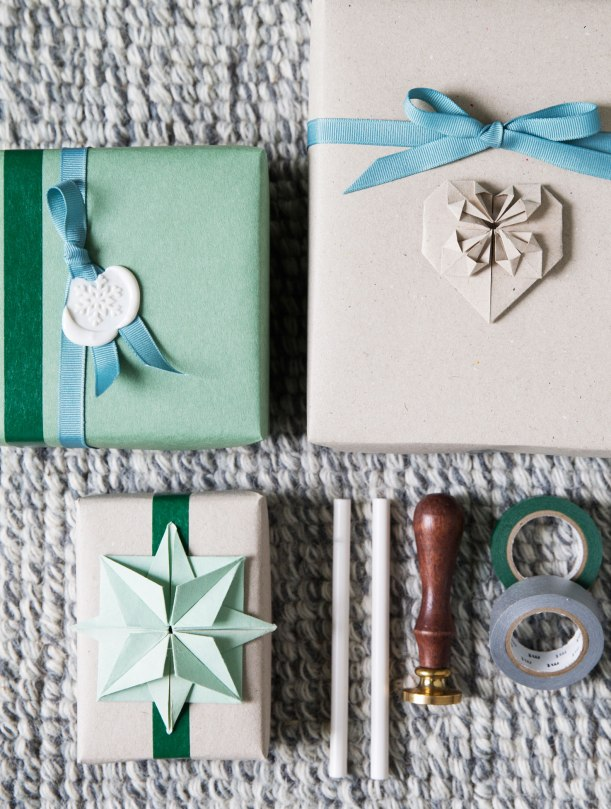 Origami gift wrapping